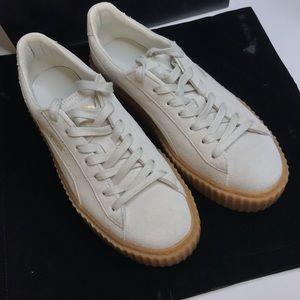 PUMA Rihanna Fenty Creeper Sneakers Oatmeal White